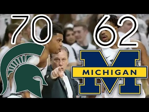MSU VS Michigan FULL GAME 1.29.17