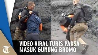 Video Viral Turis Banting Petugas yang Menjaga di Gunung Bromo, Paksa Naik ke Gunung Bromo