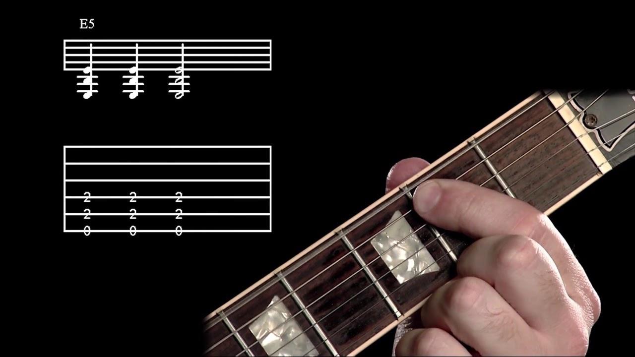 E Power Chord Guitar Lesson Easy How To Play E Power Chord Guitar