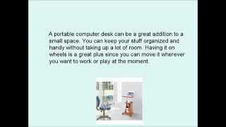 Portable Computer Desk On Wheels | Lightweight Sturdy Desk For A Great Price!
