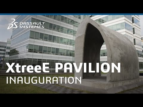 XtreeE unveils Europe's first 3D-printed Pavilion - 3DS Campus - Dassault Systèmes