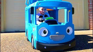 Father & Son play with Tayo Little Bus