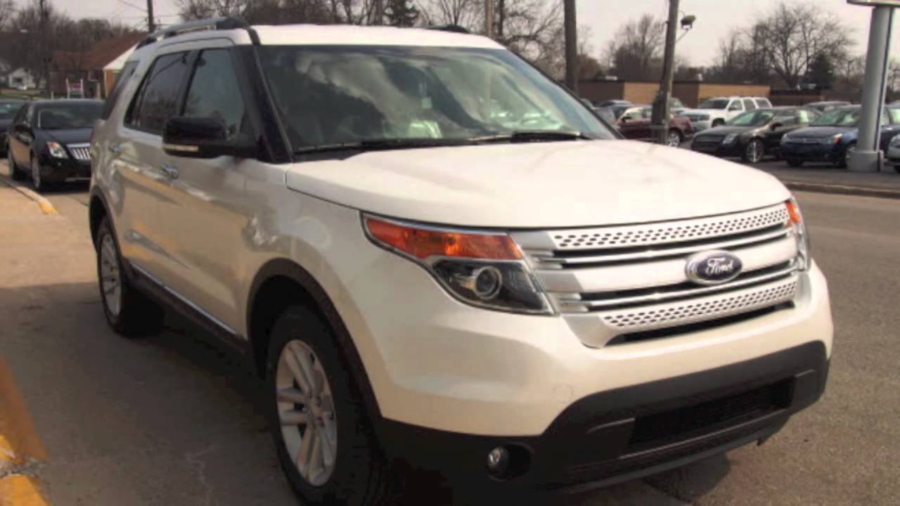 2014 Ford Explorer Xlt Off White 40750 Youtube