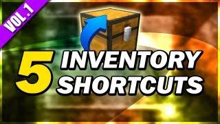 [Minecraft] 5 SIMPLE SHORTCUTS (Inventory) - Volume 1
