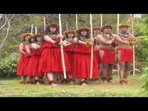ANCIENT HULA PERFORMANCE AT VOLCANO, BIG ISLAND HAWAII.