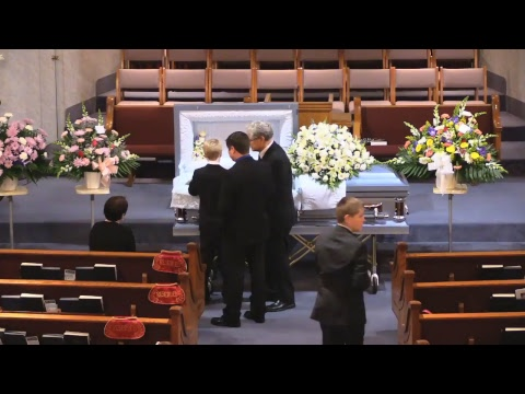 The funeral of Janet Blair