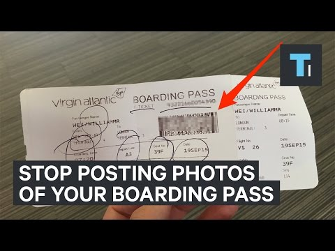 Posting photos of your boarding pass online is a terrible idea
