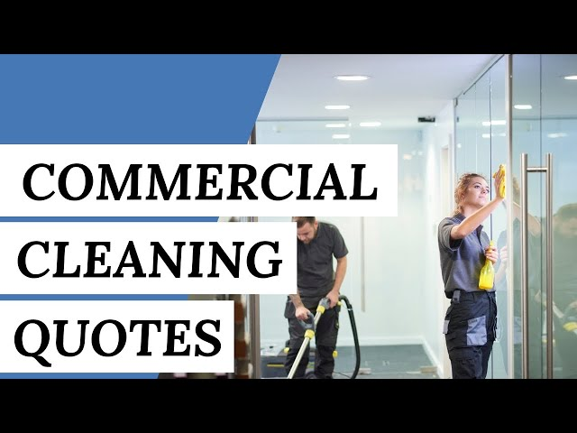 COMMERCIAL CLEANING QUOTES Explained: 5 Facts To Know   Clean