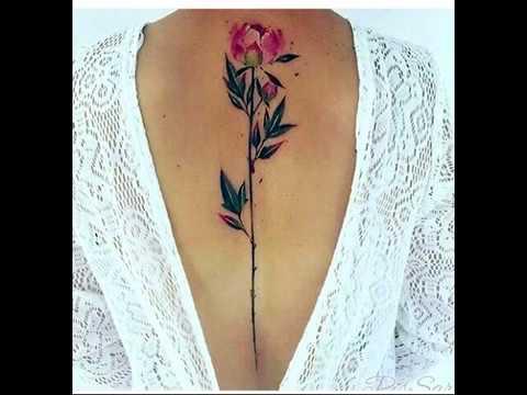Tatuajes En La Espalda Para Mujeres Youtube