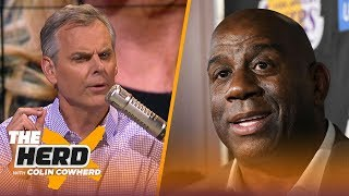 Magic Johnson leaves the Lakers, Colin Cow