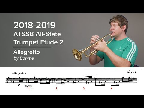 2018-2019 ATSSB All-State Trumpet Etude 2 - Voxman Pg. 27, Allegretto