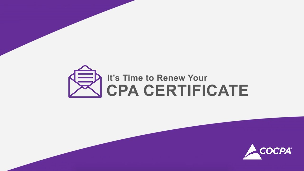Its Time To Renew Your Colorado Cpa Certificate Colorado Society
