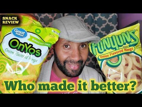 SNACK REVIEW - Funyuns Vs Walmart Onyos