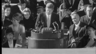 John F. Kennedy backed by band from the future