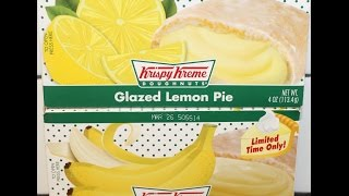 Krispy Kreme Glazed Banana Kream Pie & Glazed Lemon Pie Review