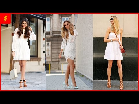 17 Cute Street Style White Dress Outfit Looks