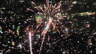 東京スカイツリーから見た隅田川花火大会