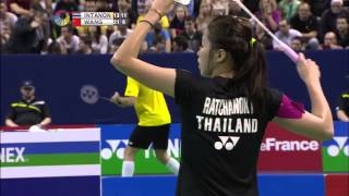 Yonex French Open 2015 | Badminton SF M3-WS | Ratchanok Intanon vs Wang Shixian