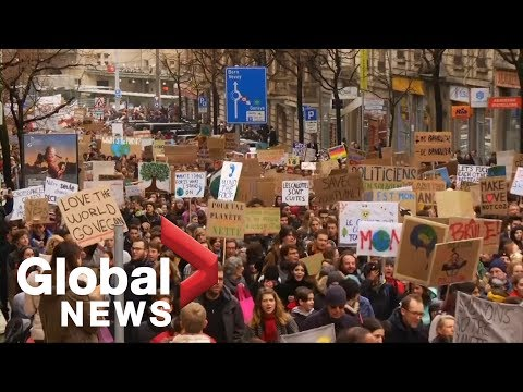Students, youth protest around the world to urge leaders to fight climate change