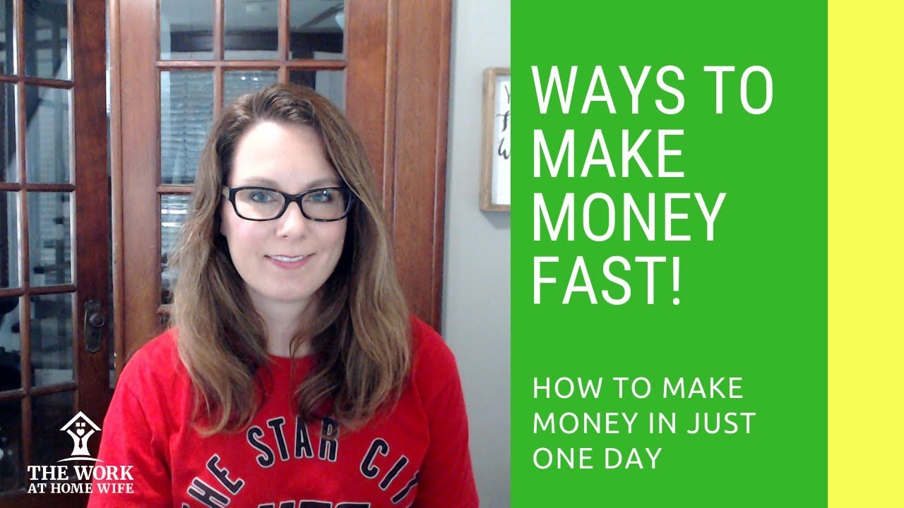 How to earn money in one day