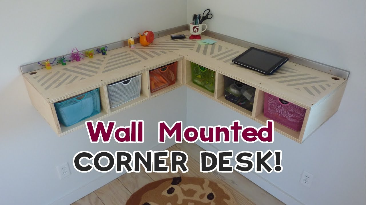 Diy Wall Mounted Stand Up Desk Youtube
