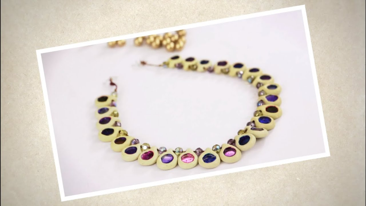 Create A Pretty Necklace Using Shilpkar YouTube