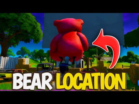Carry A Giant Pink Teddy Bear Bear Location | Fortnite Pink Teddy Bear Challenge - Midas Missions
