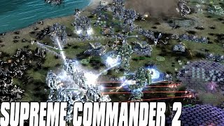 Supreme Commander 2 - SETONS CLUTCH STALEMATE 4vs4 Multiplayer Gameplay