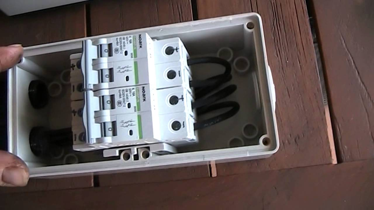 Solar Panel Circuit Breakers Youtube