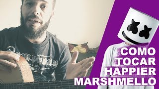 (How to Play) Como tocar Happier Marshmello ft. Bastille (Fingerstyle) - Lucas Lopes Guitar