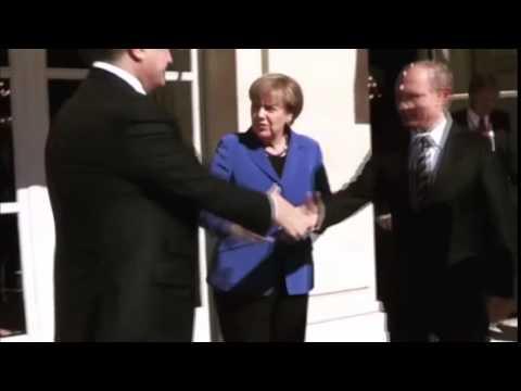 Merkel requested Poroshenko to shake Putin's hand.