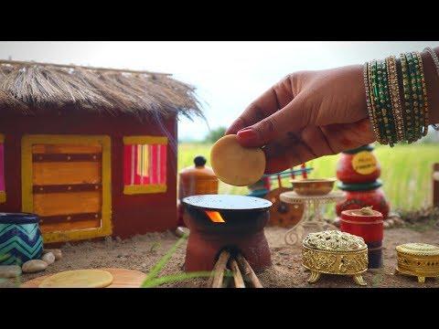 Miniature Maharashtrian Puran poli | Poli Recipe | Miniature Cooking #48 | Mini Foodkey