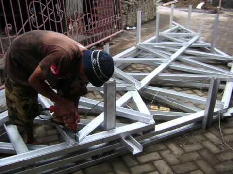 Harga Rangka Atap Baja Ringan Di Malang Galvalum Permeter Terpasang