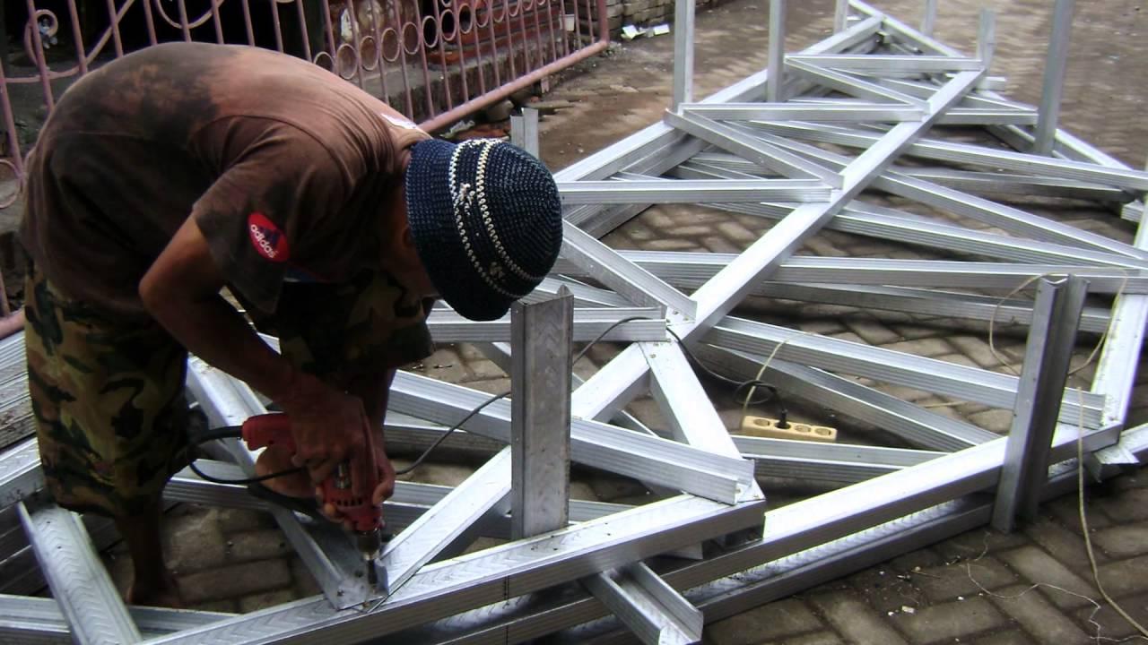 Jarak Reng Baja Ringan Atap Galvalum Harga Permeter Terpasang Rangka