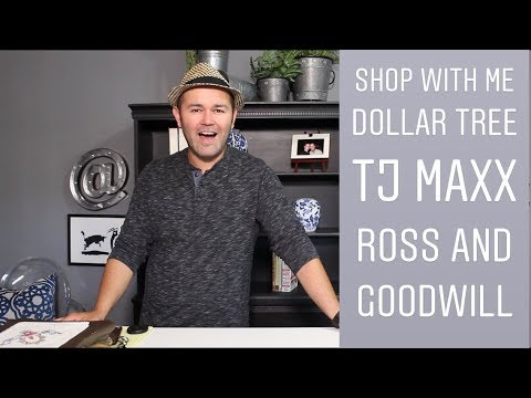 Shop With Me At Dollar Tree / TJ MAXX and Goodwill / Thrift Shopping