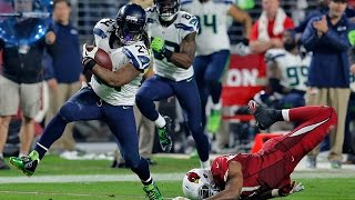 Marshawn Lynch's Does it Again! Beast Quake 2.0 | Seahawks vs. Cardinals | NFL Highlights