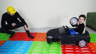 Yusuf 'un Arabası Yolda Kaldı, Tamirci Çağırdı | Kids Pretend Play with  Battery Powered Car