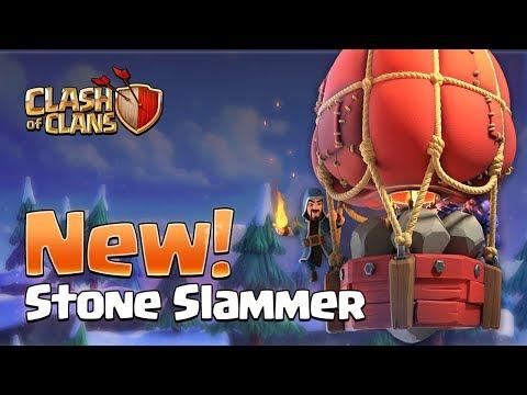 STONE SLAMMER! New Siege Machine! (Clash Of Clans Update)