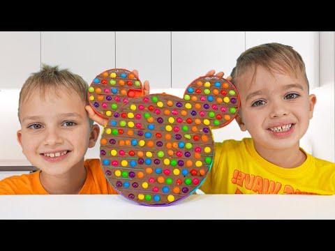 블라드와 니키는 과자 플레이를 척 - 아이들을위한 컬렉션 비디오