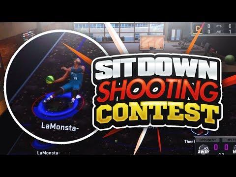 NBA2K17 FIRST EVER SITDOWN SHOOTING CONTEST! HARDEST 2K CHALLENGE