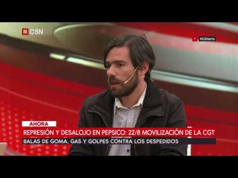 Habla Nicolás del Caño por la represión y desalojo en Pepsico