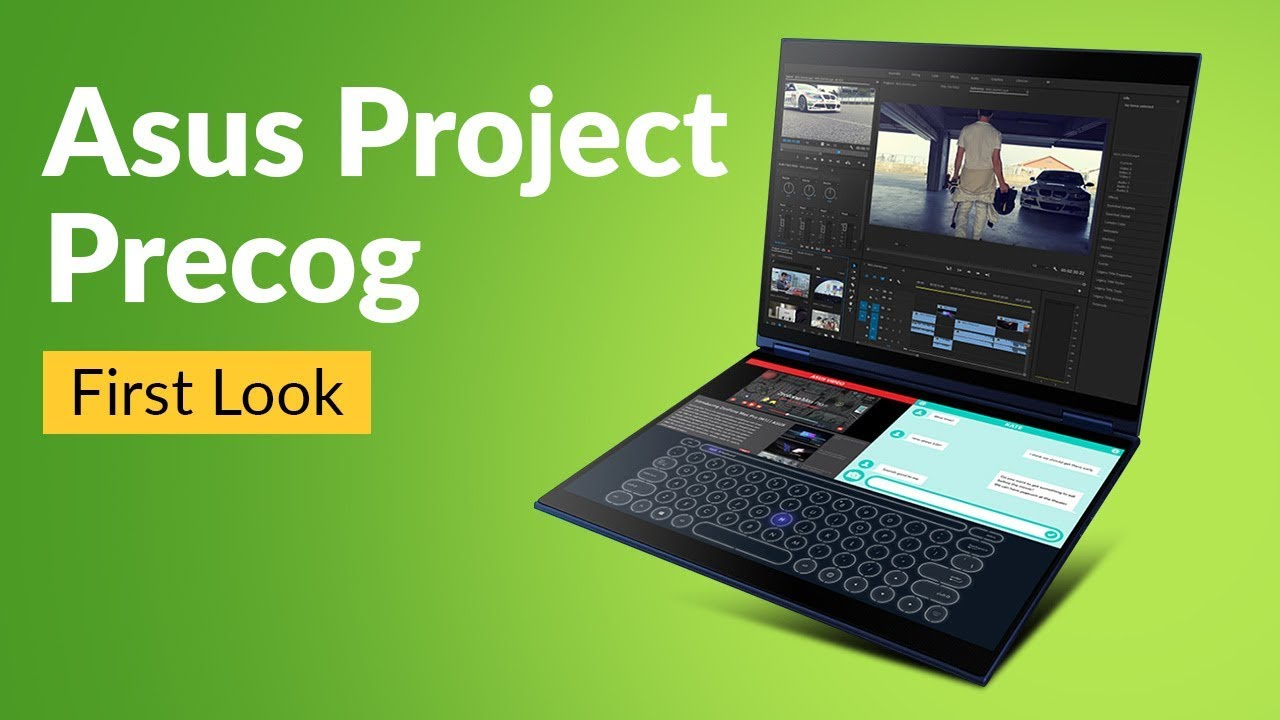 Asus Project Precog First Look : a dual-screen notebook with AI features    Digit in
