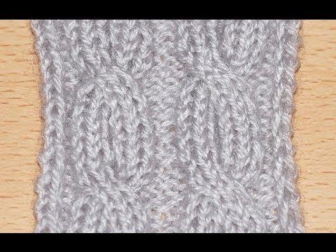 Схема вязания спицами ажурного узора ромбы. Вязание # 510