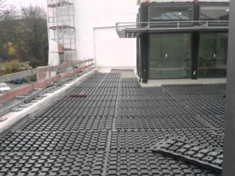 Dachterrasse Bodenbelag dachterrasse im aufbau