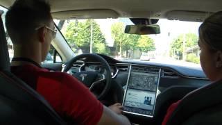 Tesla model s ( electric vehicle) - seattle test drive performance model 2012