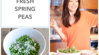Fresh Peas With Dill, Lemon Zest And Feta I Debbie Wong's Wok And Gong