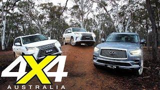 2018 Lexus LX450d vs LX570 vs Infiniti QX80 comparison 4X4 Australia