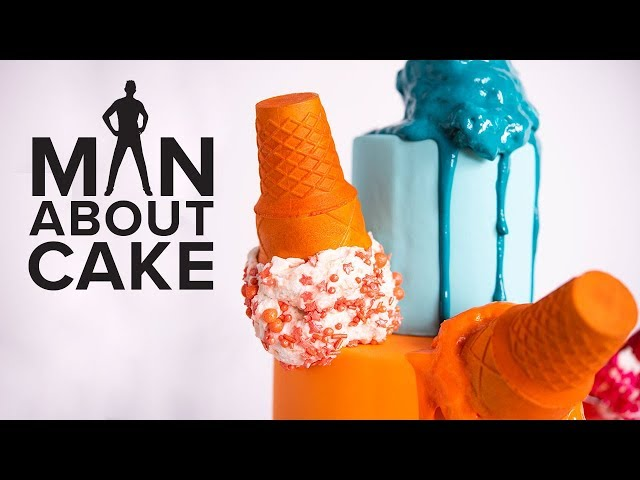 Melted Ice Cream Cone Cake ???? Inspired by Abel Bentin | Man About Cake