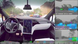 Tesla - Fully Autonomous Self-Driving Car Testing [1080p]