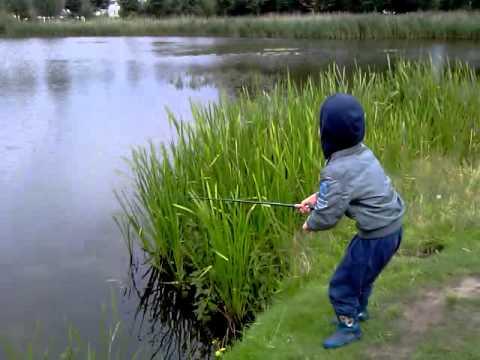 vissen met werphengel